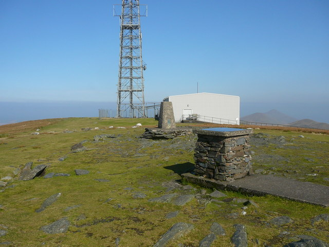 Trig point and toposcope on Snaefell