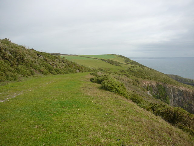 The coastal path at East Hollicombes