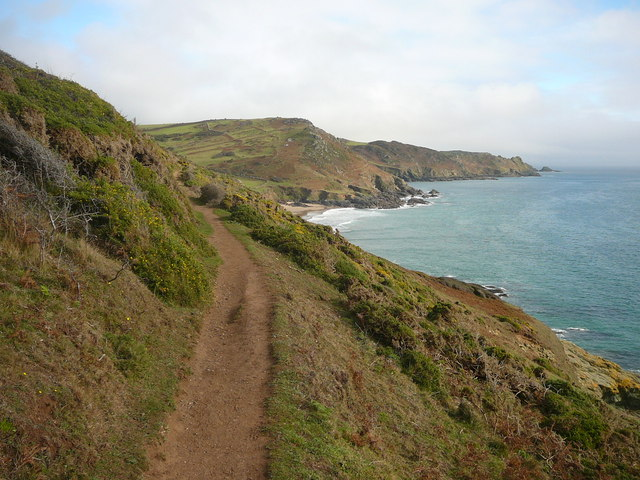 On the coastal path below Portlemouth Down