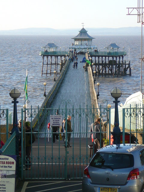 View along Clevedon Pier