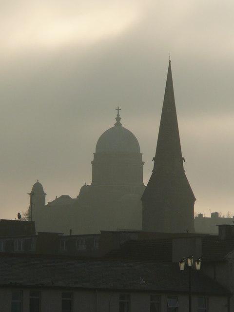 The spires of New Brighton