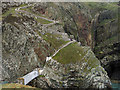 SH2082 : Bridge and stepped path to South Stack Lighthouse by Trevor Littlewood