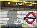 TQ2782 : The ghostly presence of Sherlock Holmes, 221B Baker Street by Mike Quinn