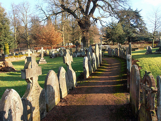 Avenue of gravestones