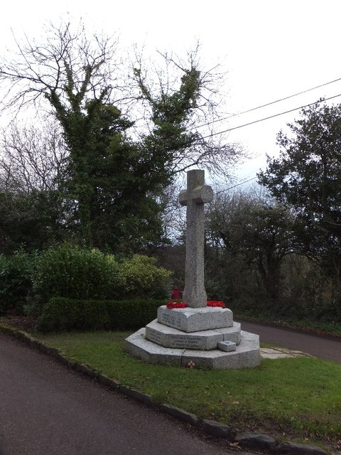 Salcombe Regis war memorial on Soldier's Hill