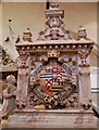 SK8039 : Crest on Tomb of 2nd earl of Rutland, St Mary's church, Bottesford by Julian P Guffogg
