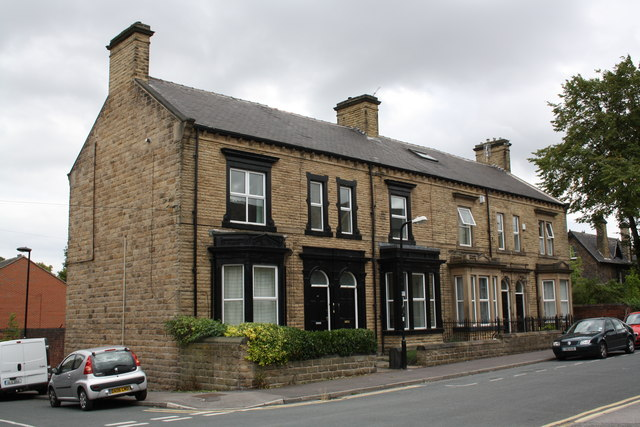 Houses on Hopwood Street at Western Street junction