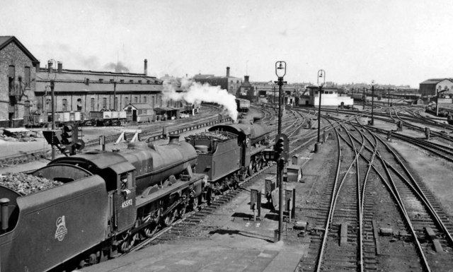 Crewe North Junction, with two Stanier 'Jubilees' on a Down Liverpool express