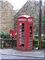 SK3094 : Post Box and Telephone Kiosk at Wharncliffe Side, near Oughtibridge by Terry Robinson