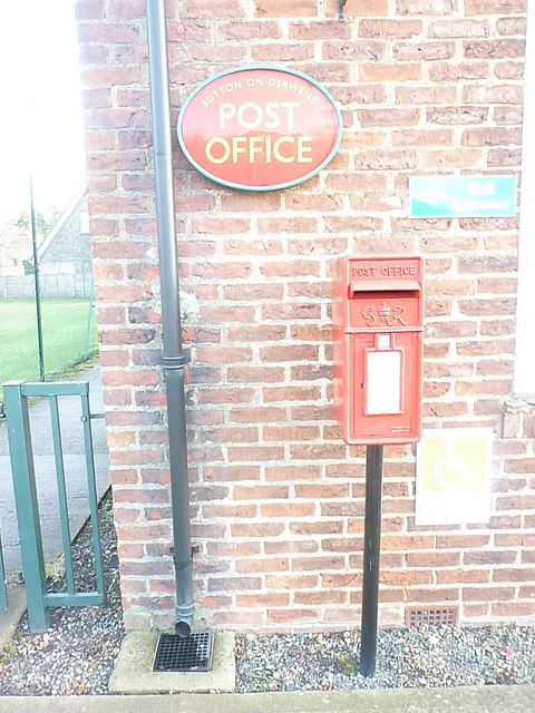 Sutton on Derwent: postbox № YO41 196