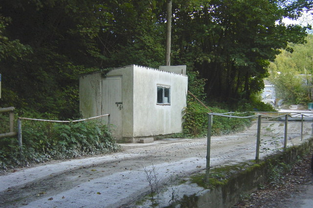 Weighbridge at Charing chalk quarry