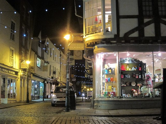 Burgate at night
