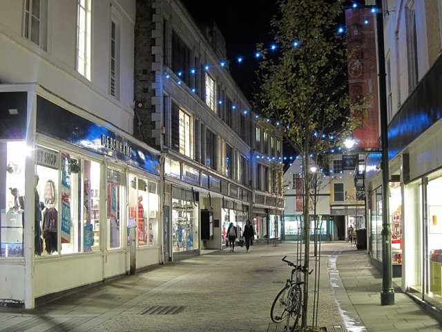 Guildhall Street at night