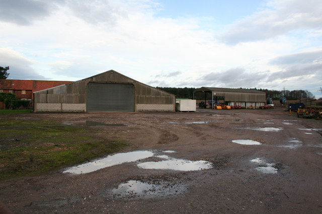 Normanton Larches farm yard and buildings