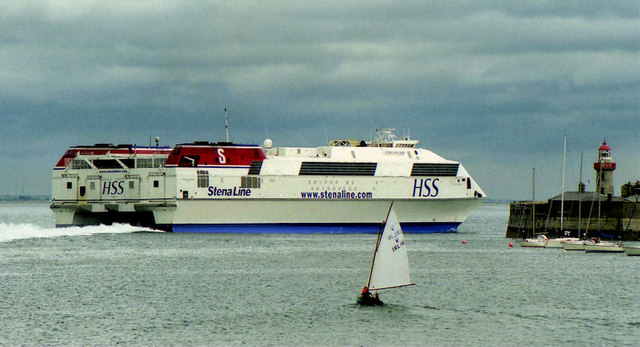 "The ""Stena Explorer"" at Dun Laoghaire"