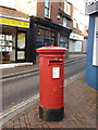 SU1405 : Ringwood: postbox &#8470; BH24 1, Market Place by Chris Downer