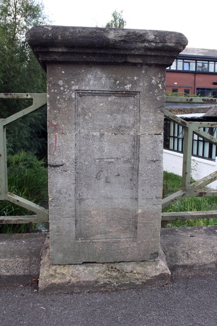 Benchmark on Botley Bridge, Westway