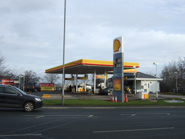 Service station on Wakefield Road