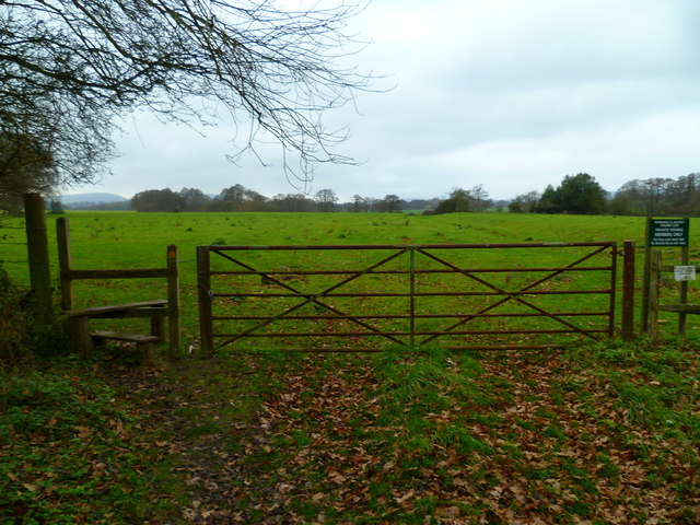 Footpath into field by Durford Mill