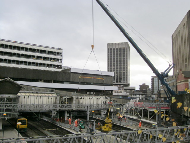 Birmingham New Street Station Redevelopment - Footbridge Being Replaced