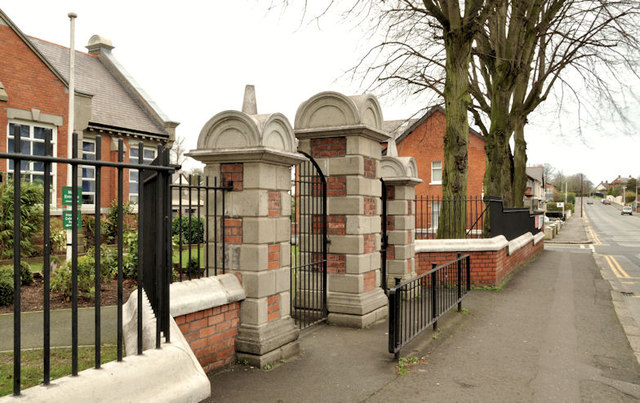School gates, Lisburn