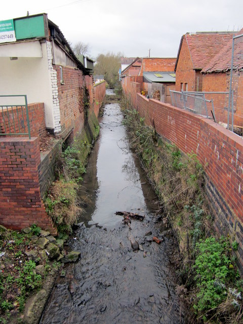 River Rea at West Heath Road Bridge