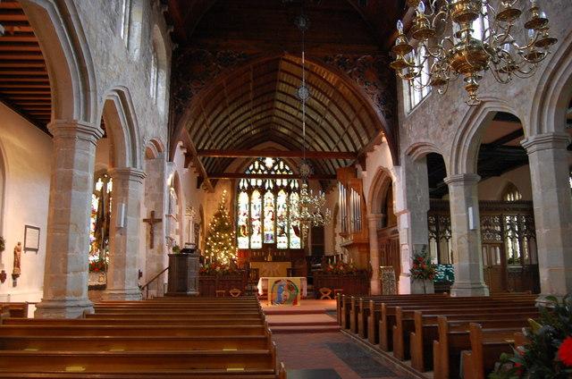 Interior St Dunstan S Church Mayfield 169 Julian P Guffogg