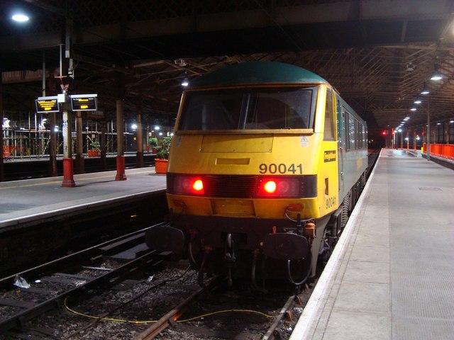 Class 90 at Crewe