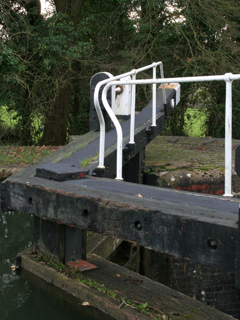 Detail of lock gates, Spinney Lock