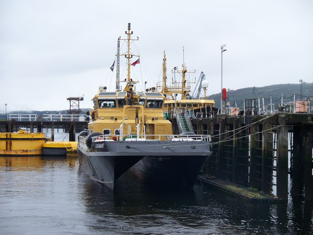 SD Adamant At Great Harbour, Greenock