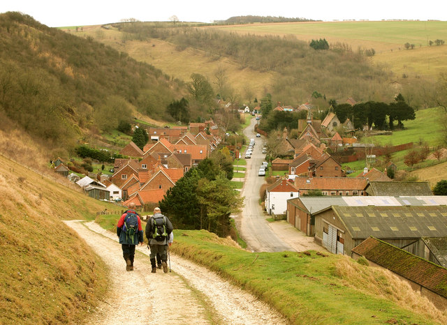 Walking into Thixendale Village