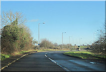 SP6633 : Tingewick road approaching A421 roundabout by John Firth