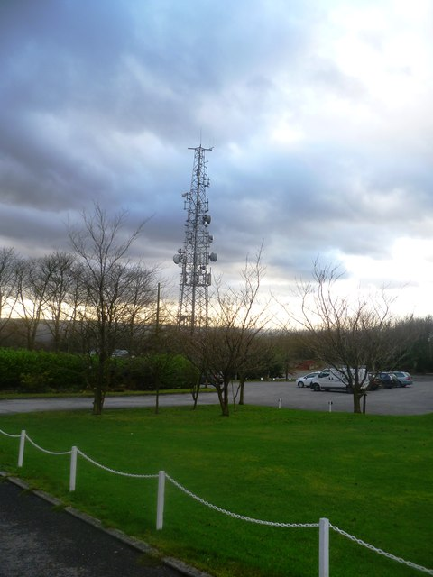 Telecoms Tower at Werneth Low Golf Club