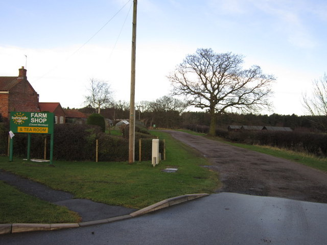 A bridleway off the B1203 at Sunnysise