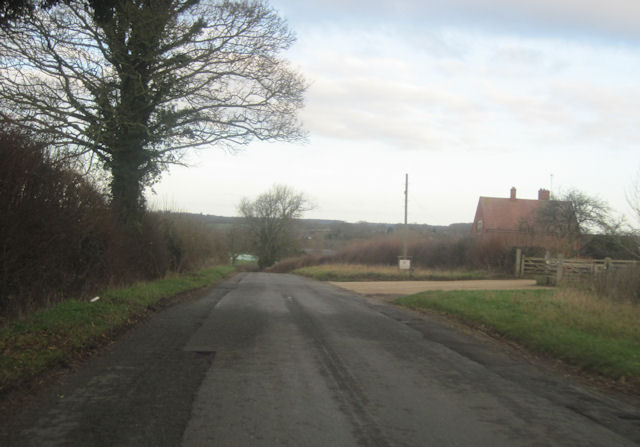 Road past Rectory Barn Farm