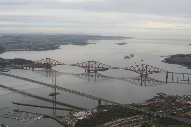 Forth Road and Railway Bridges