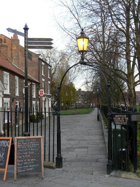 Lantern and railings