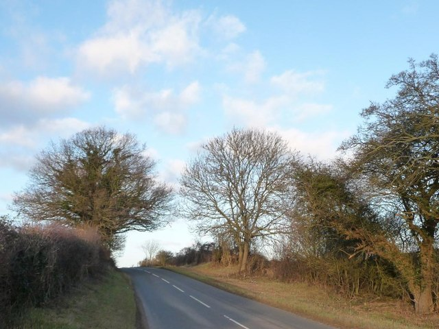 The road to Collyweston Crossroads