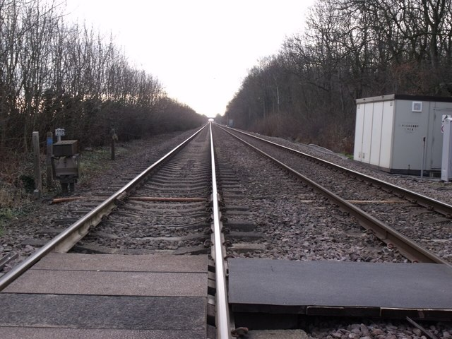 Railway lines towards Lincoln