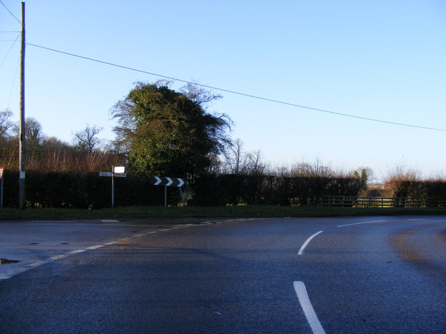B1123 The Street, Withersdale road junction