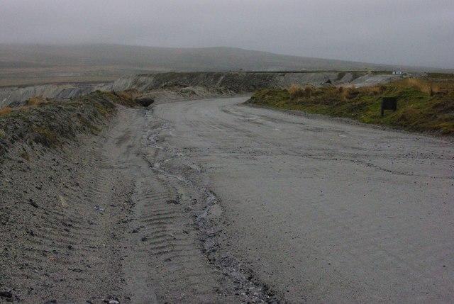 Quarry road near Lee Moor Quarry