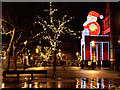 SJ8398 : Father Christmas at Albert Square by David Dixon