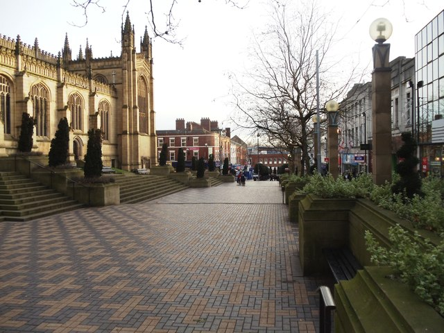 The Cathedral Walk Pedestrian Precinct, Wakefield