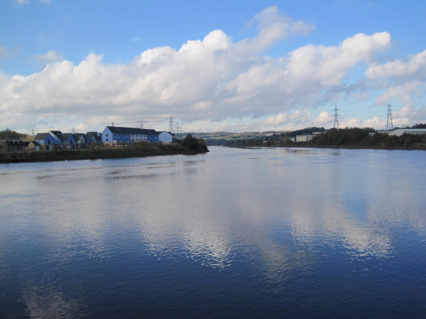 River Tyne and New Housing Development at Ryton Haugh