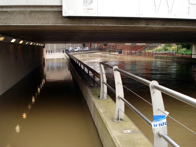 Flooding under Wigford Way