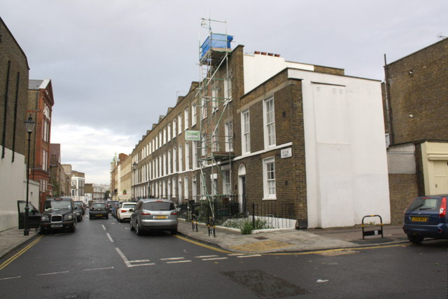 Terraced houses on Ritchie Street