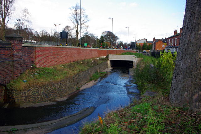 Culvert over the Bourn Brook near Arley Road, Bournbrook
