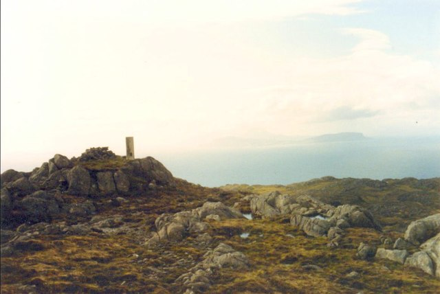 Beinn Bhreac summit with trig point