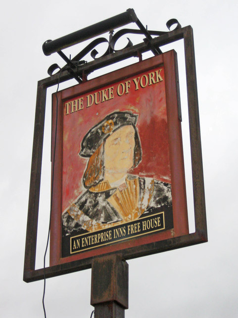 The Duke of York (2) - sign, 83 Broad Street, Bromsgrove