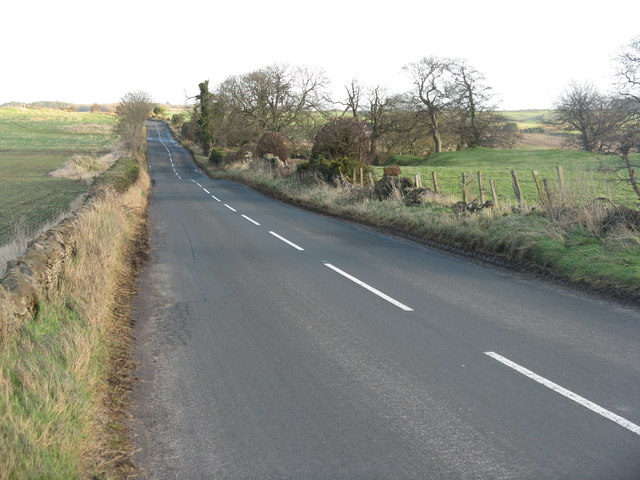 Road past Waughton towards Whitekirk